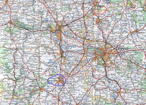 Guide to Bach Tour: Weissenfels - Maps