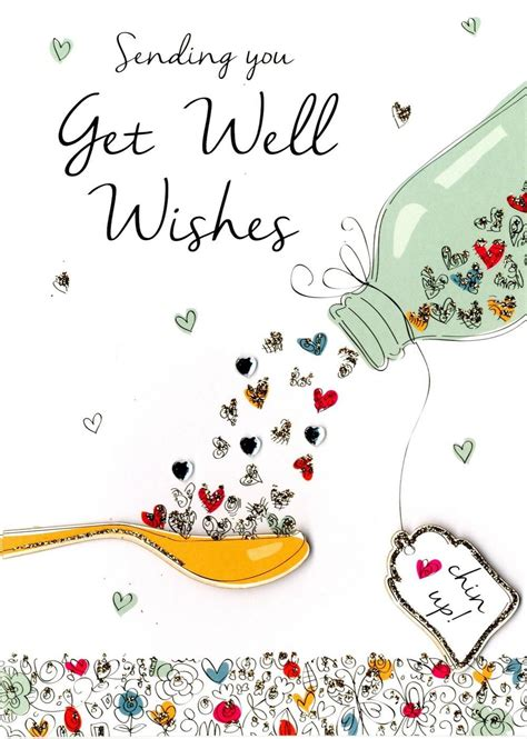 Get Well Wishes Greeting Card | Get well wishes, Get well