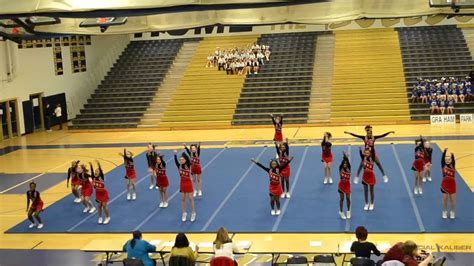 Woodbridge Middle School Cheer Competition @ Hylton - YouTube