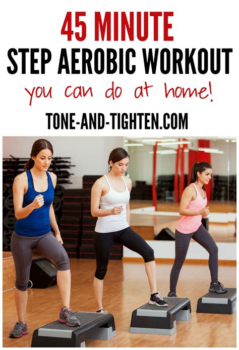 45 Minute Step Aerobic Workout   Tone and Tighten