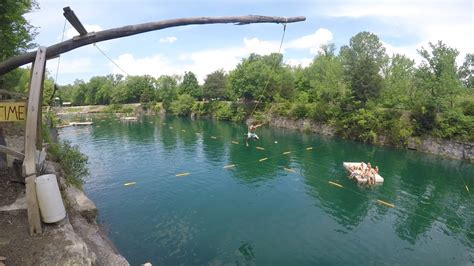 Indiana Cliff Jumping/Flipping at White Rock Park - YouTube