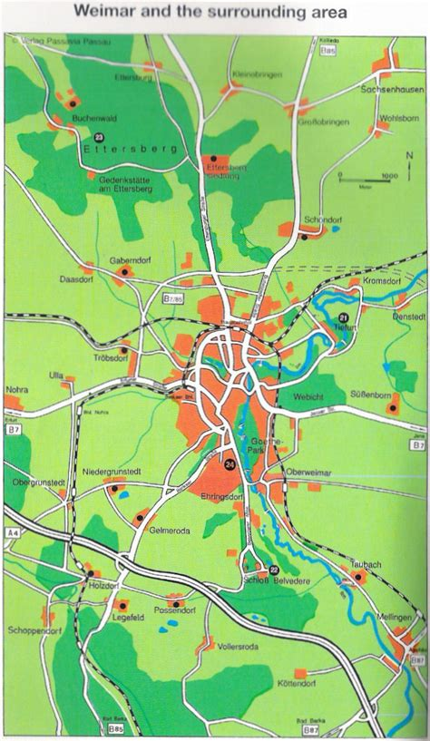 Guide to Bach Tour: Weimar - Maps