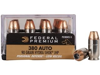 Federal Premium Personal Defense Reduced Recoil Ammo 380